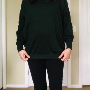 Neiman Marcus Sweaters - Forest green cashmere silk sweater